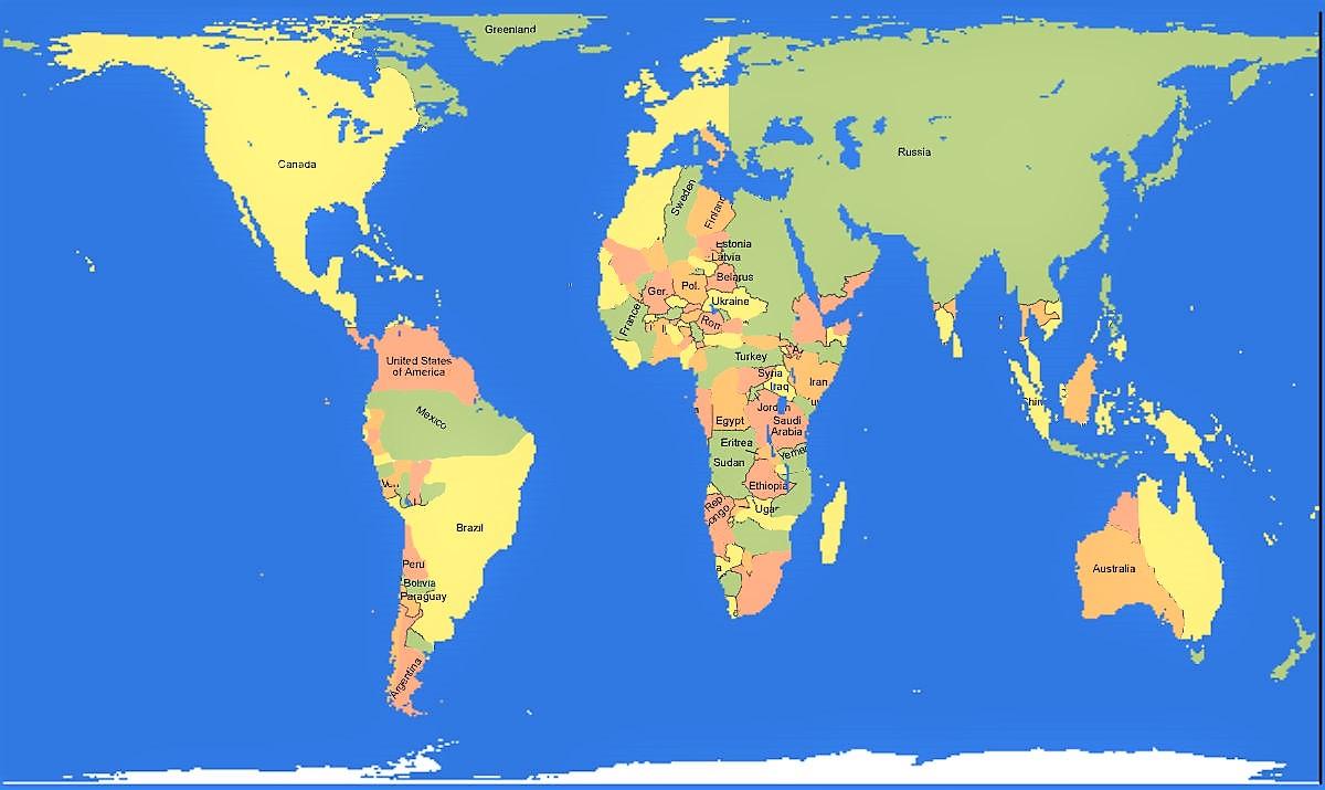 Para Imprimir Mapa Del Mundo Real.Mapamundis De Todos Los Tipos La Web De Los Mapas Del Mundo