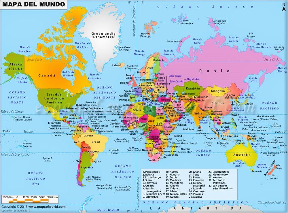 mapas mundi con nombres grande