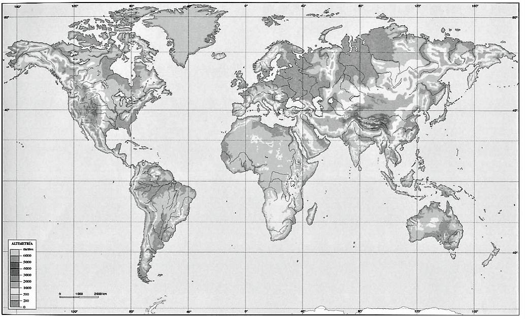 ▷ Mapamundis físicos para imprimir | Mapas del mundo físico de todo ...