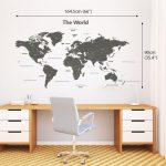 vinilo mapa del mundo decorativo