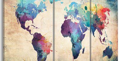 comprar lienzo mapamundi online