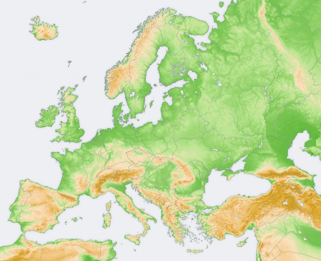 mapa mundi europa en blanco