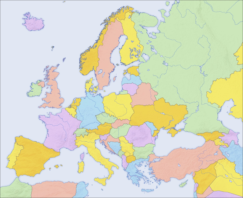 Mapa Mudo Fisico Europa Pdf.Mapa De Europa Para Imprimir Politico Fisico 2019