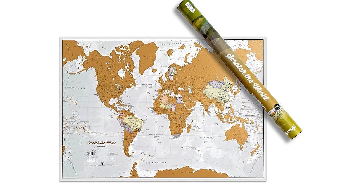 ▷ Mapamundi para rascar los países visitados | Ofertas 【 2018 】🥇