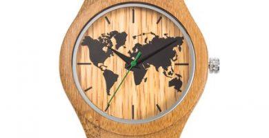 reloj mapamundi de pulsera