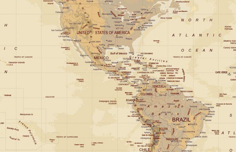Mapa America Para Imprimir.Mapa De America Para Imprimir Politico Fisico Nombres Mudo