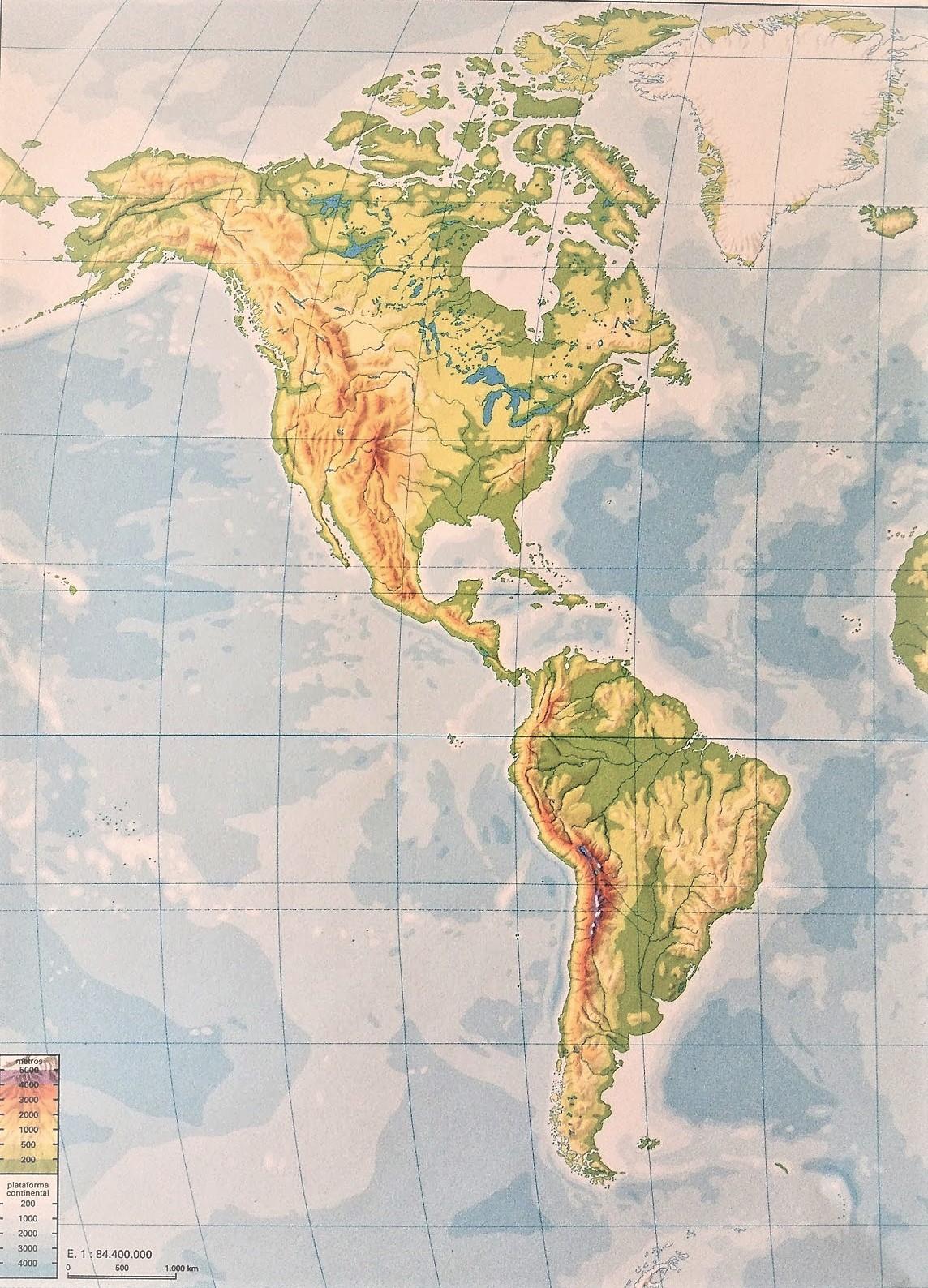 Mapa De América Para Imprimir Político Físico