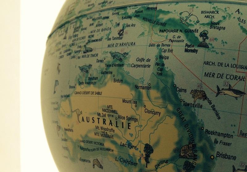 oceania globo terraqueo