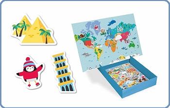 mapamundi magnetico para niños