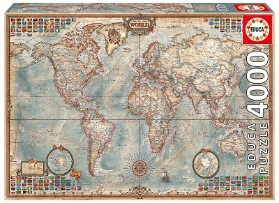 educa borras puzzle mapamundi 4000 piezas