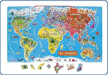puzzle mapamundi magnetico janod
