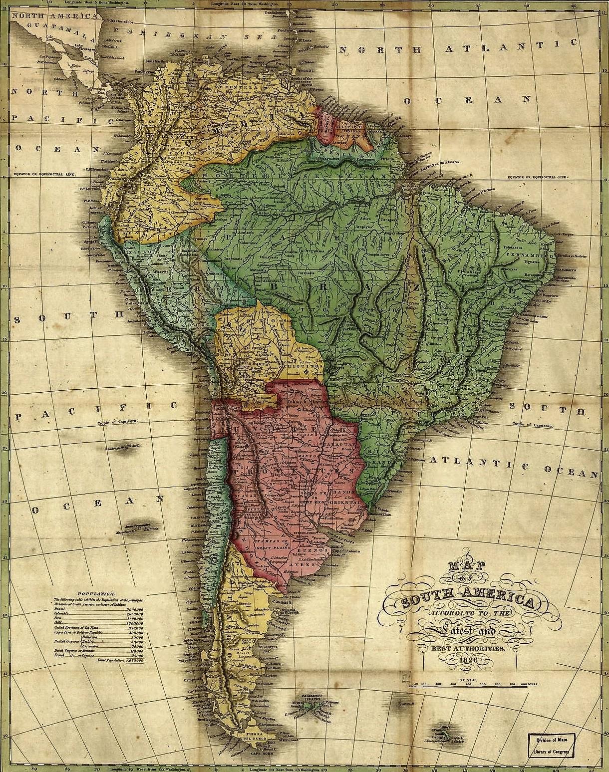 Mapa De America Del Sur Mapas De Sudamerica Suramerica