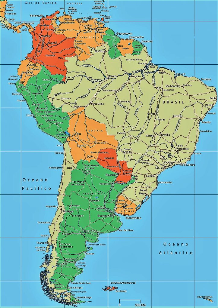 mapa suramerica politico