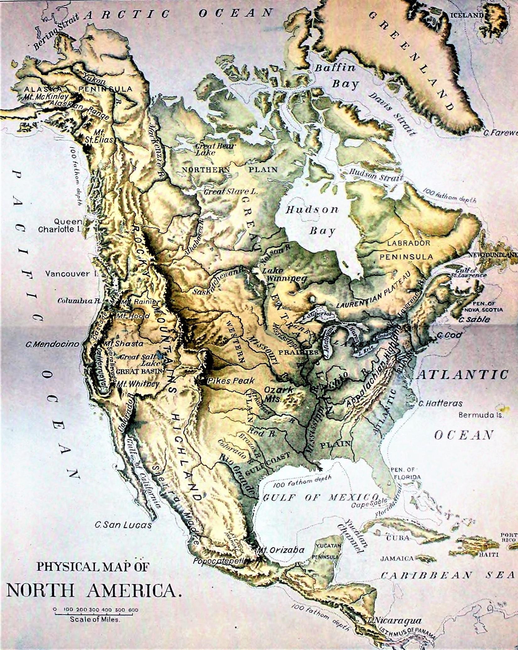 Mapa De América Del Norte Norteamérica Político