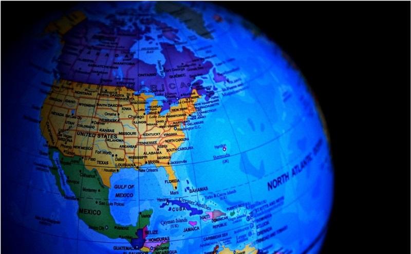 mapa mundi america norte