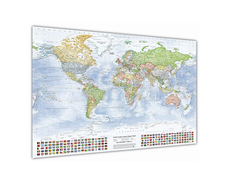 Maxi Poster Mapa Europa Es Fisico Politico