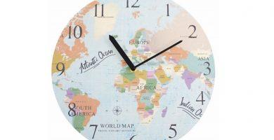 reloj mapa mundi