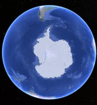 antartida globo continente