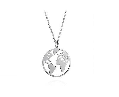 estilos clásicos buena calidad extremadamente único ⊛ Colgante Mapamundi 🥇 Collares Mapas del Mundo ...