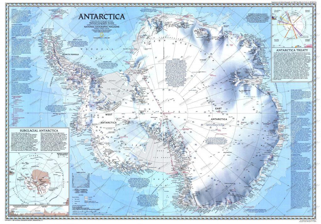 mapa antartida completo