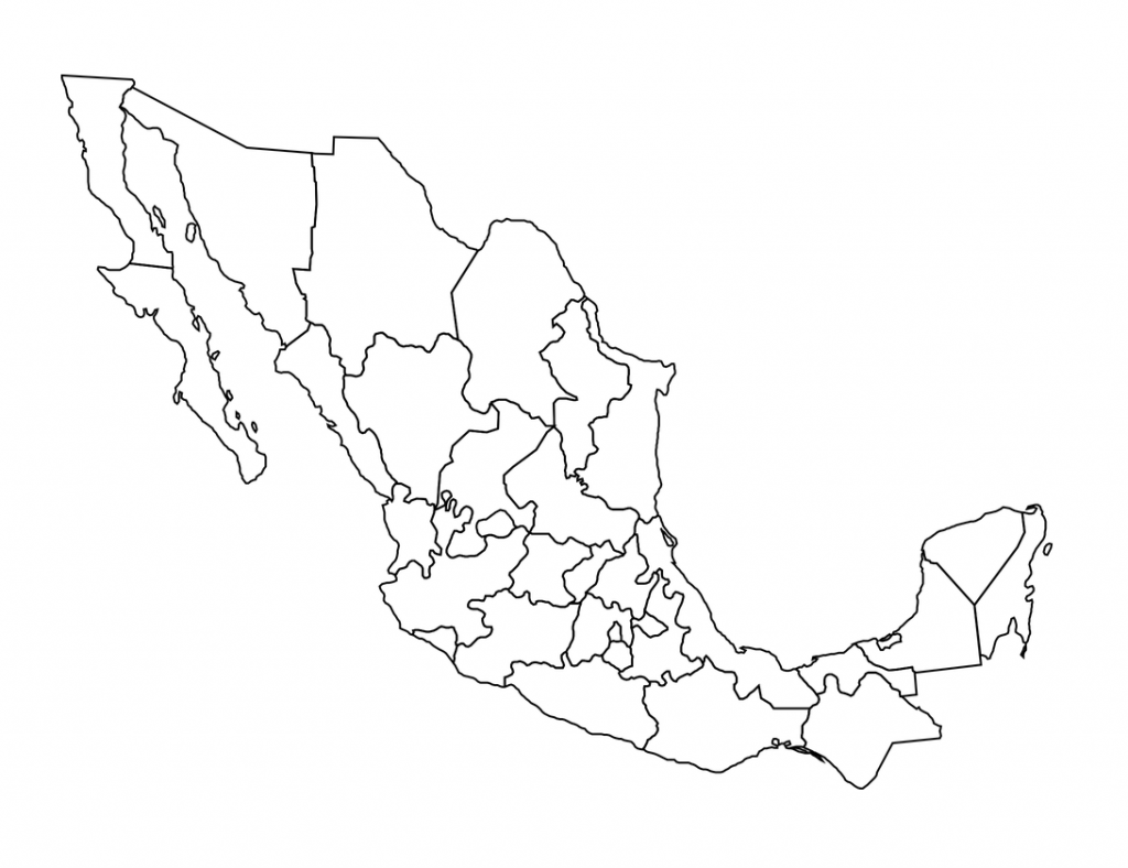 mapa de mexico sin nombres