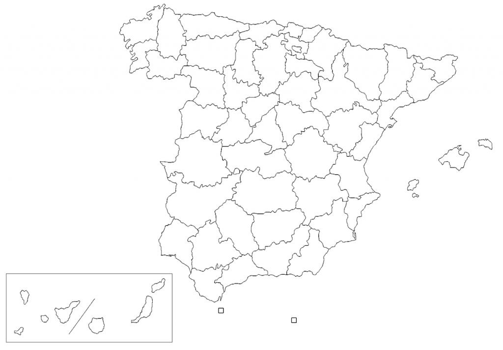 mapa españa mudo en blanco