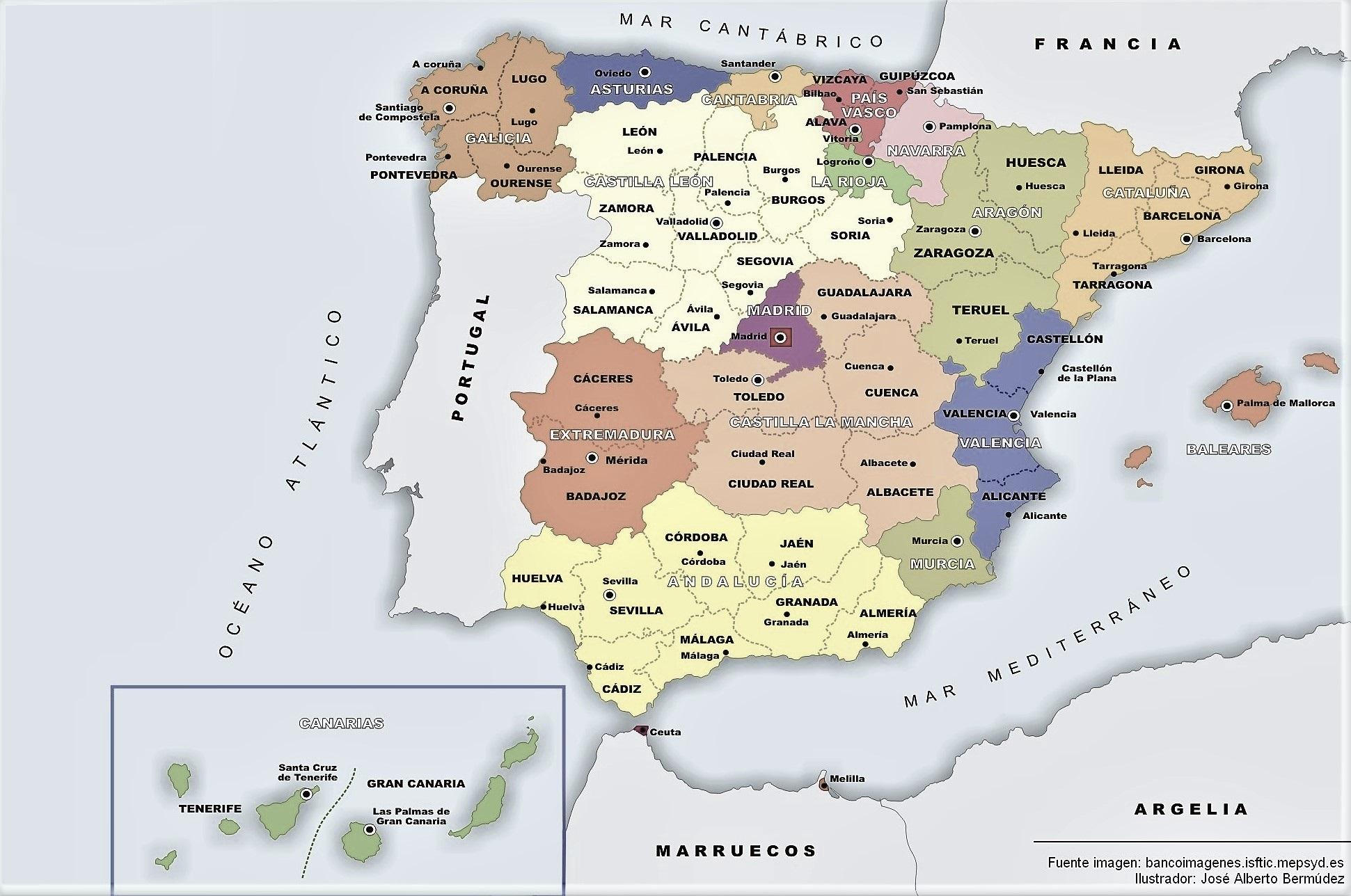 Mapa Mudo Politico De España Para Imprimir Tamaño Folio.Mapa De Espana Politico Fisico Mudo Para