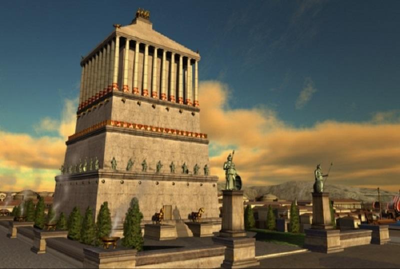mausoleo del halicarnaso maravilla antigua mundo