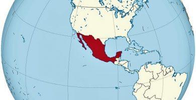 mexico mapamundi globo terraqueo