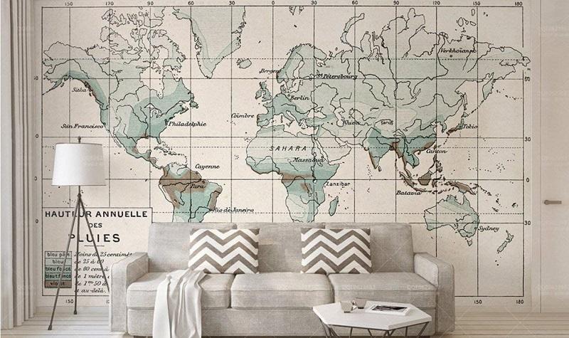 Papel pintado mapamundi dise os super originales para pared - Papeles pintados originales ...