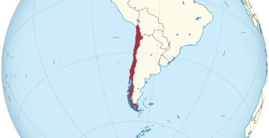atlas chile mapamundi globo terraqueo