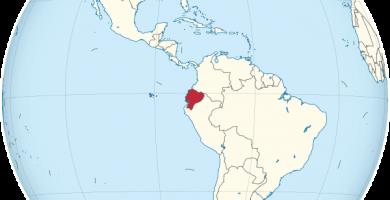 ecuador mapamundi