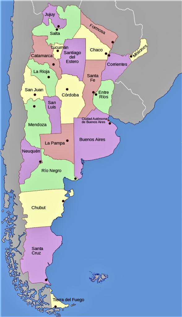 mapa de argentina politico provincias