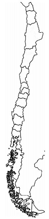 mapa chile colorear pintar mudo