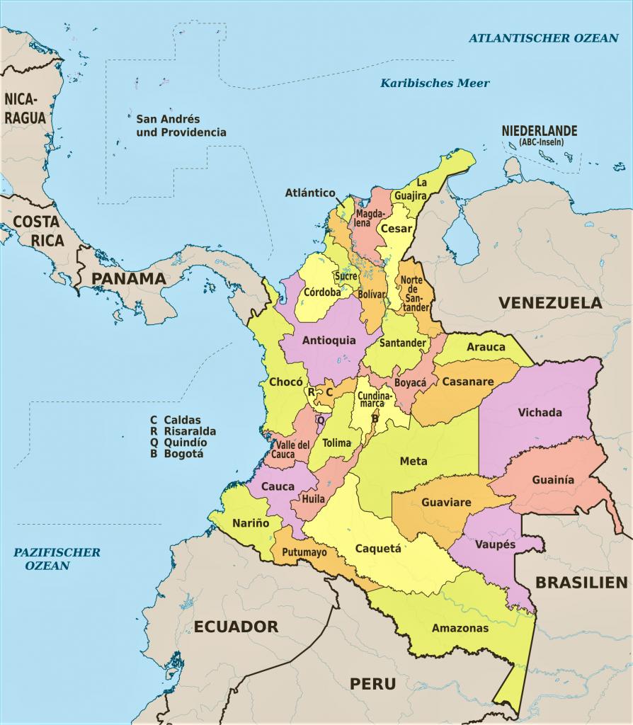 mapa colombia politico