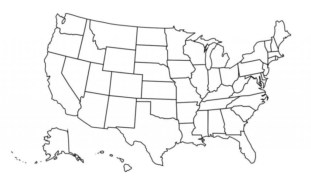 mapa eeuu imprimir colorear mudo