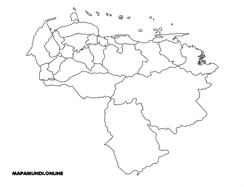 mapa de venezuela con sus estados para colorear