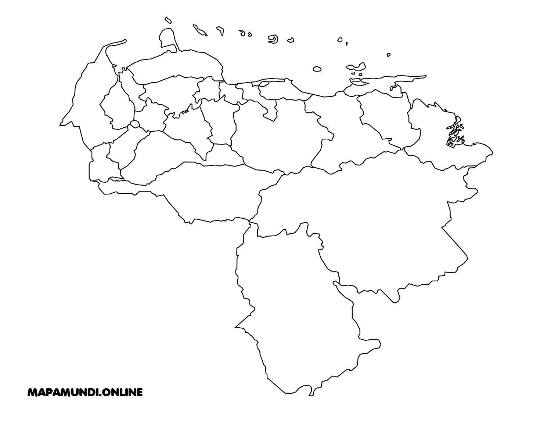 Mapa De Venezuela Político Físico Para Imprimir 2019