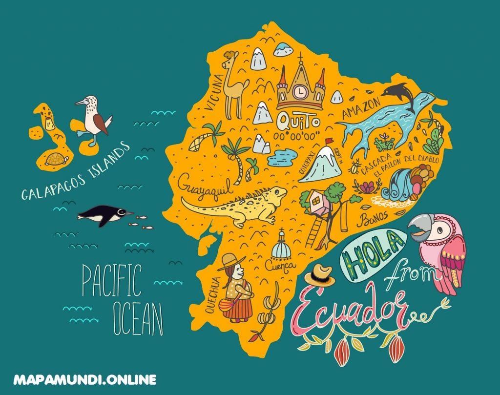 mapa ecuador turistico