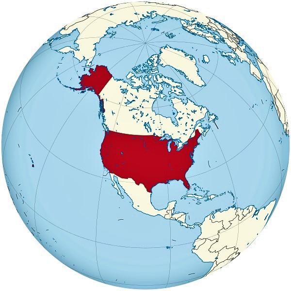 mapamundi estados unidos globo terraqueo