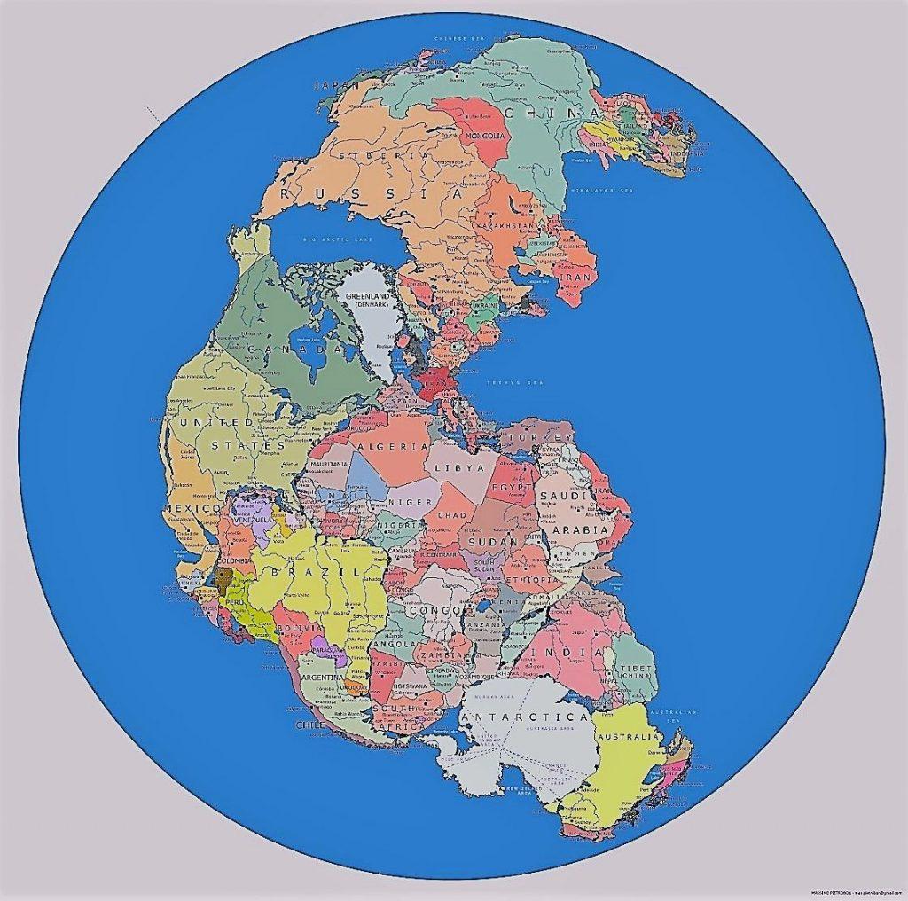 mapa pangea