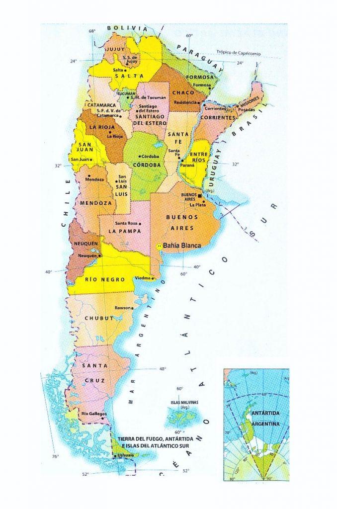 mapa argentina politico con ciudades