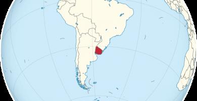 uruguay mapamundi