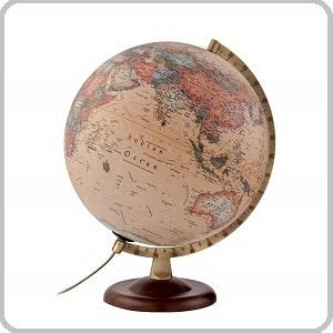 bola del mundo iluminada de madera
