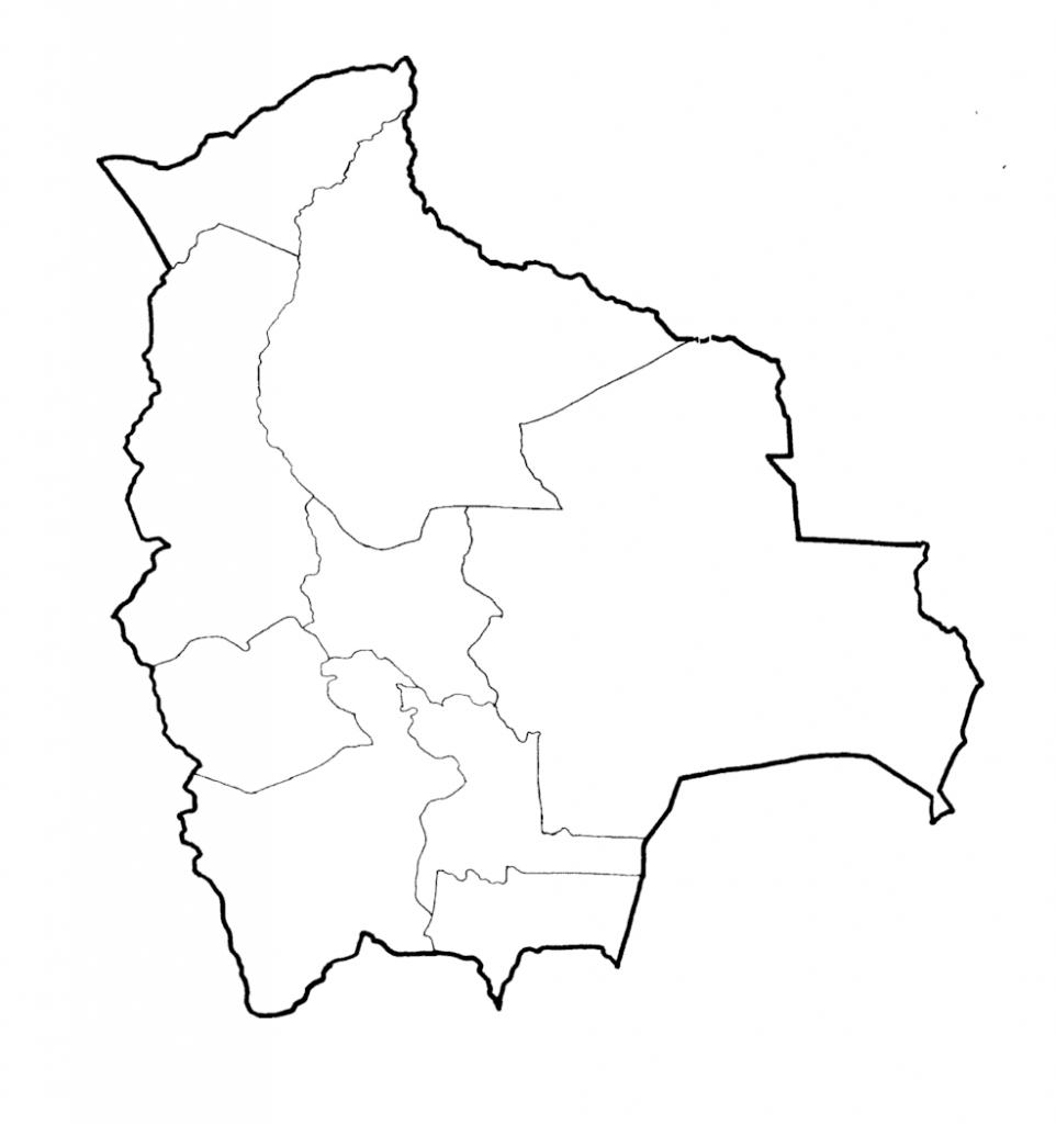 mapa bolivia colorear