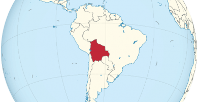 mapamundi bolivia globo terraqueo