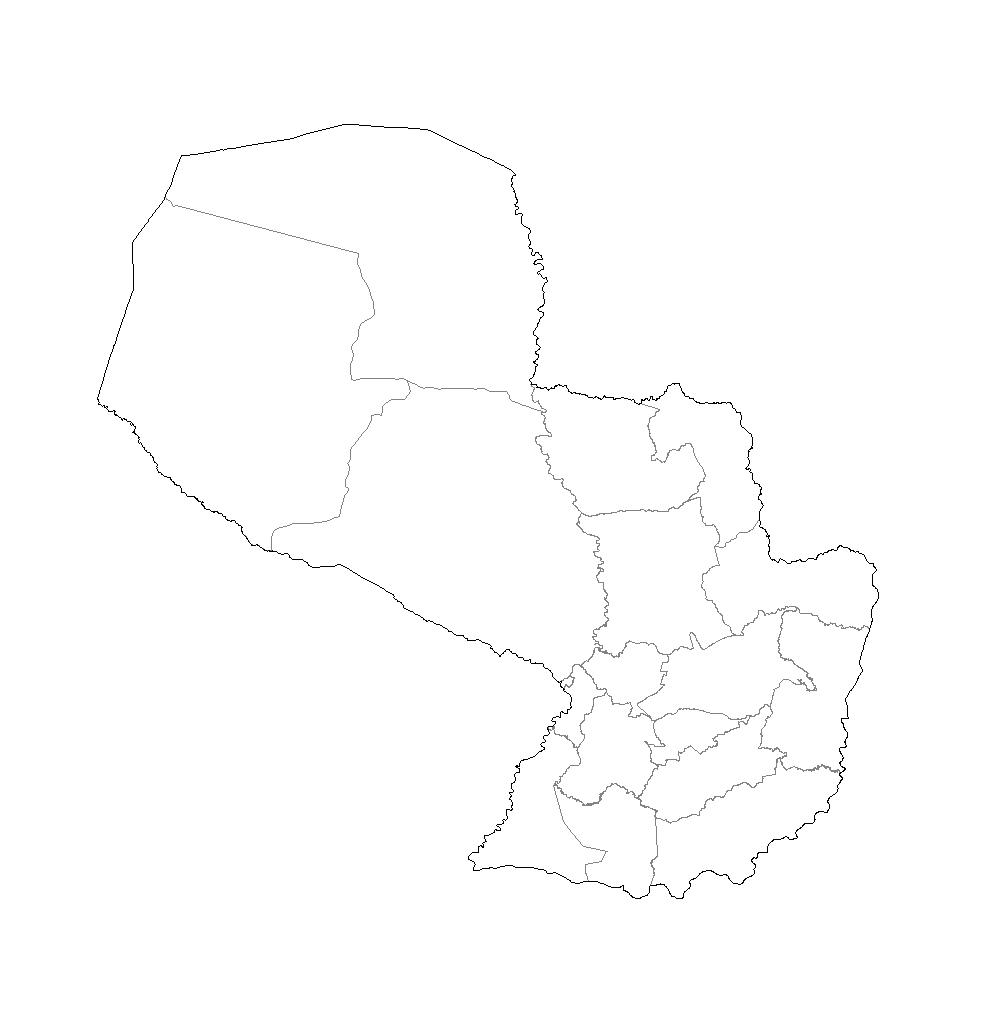 mapa paraguay blanco imprimir colorear
