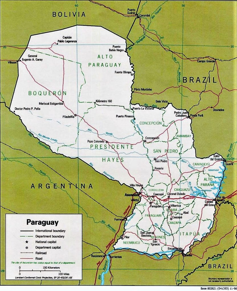 mapa gigante paraguay para imprimir