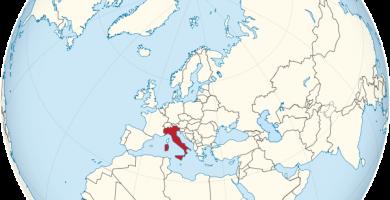 mapamundi italia