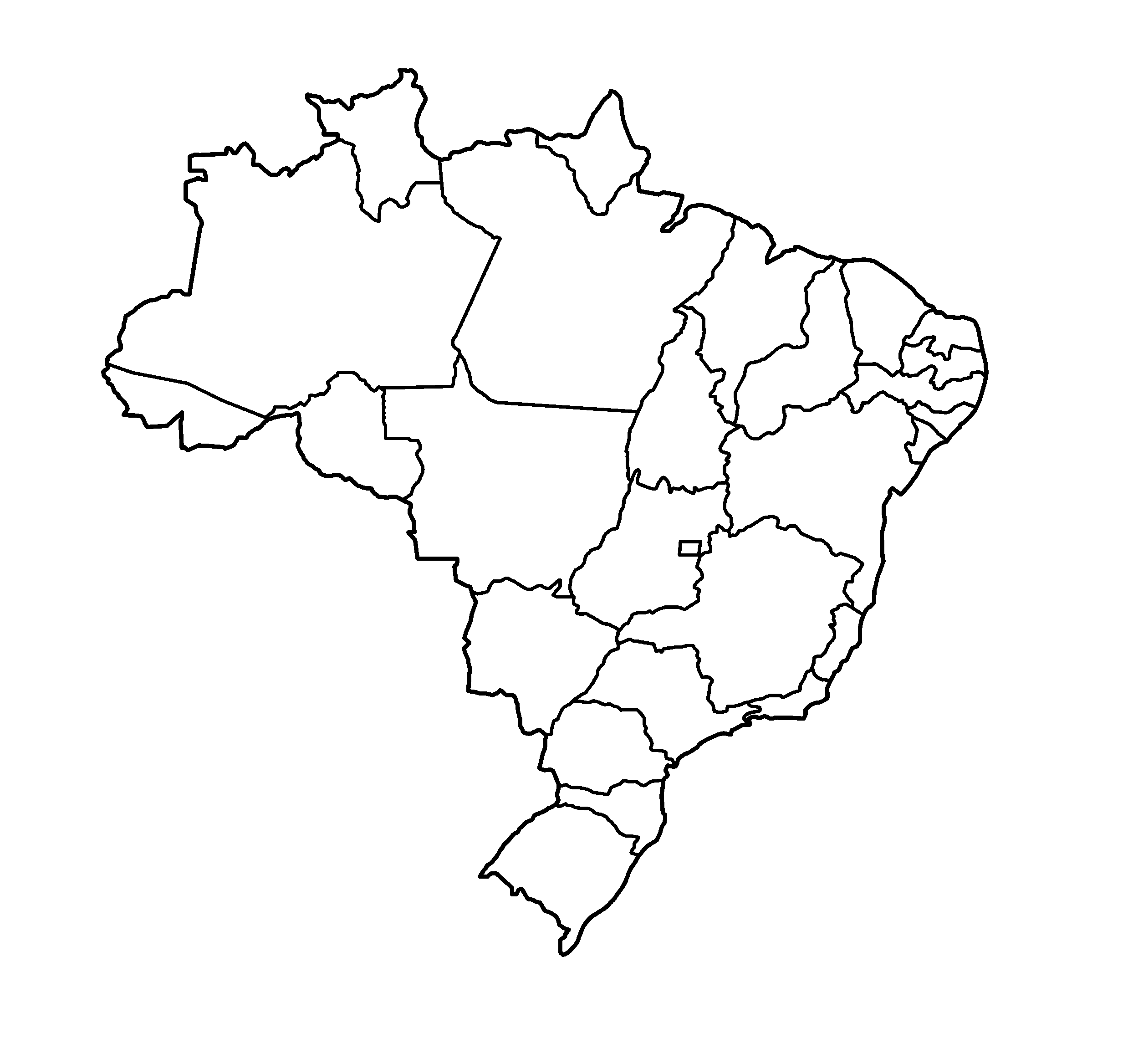 Mapa De Brasil Político Físico Con Nombres Y